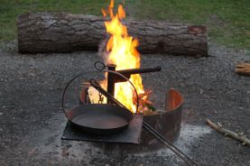 A cooking fire in 2014. Photo courtesy of Mark H.