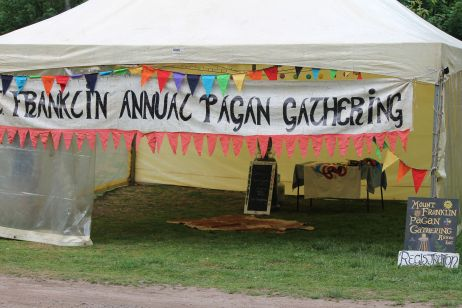 The communal marquee in 2014. Photo courtesy of Mark H.