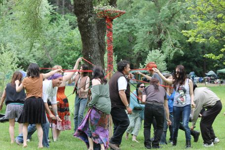The maypole in 2014. Photo courtesy of Mark H.