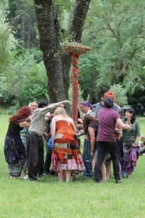 The maypole in 2014. Photo courtesy of Mark H.