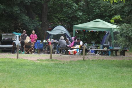 The campsite of some of the Melbourne pagans, 2014. Photo courtesy of Mark H.