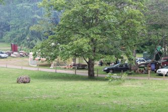 Looking towards the organisers' campsite, 2014. Photo courtesy of Mark H.