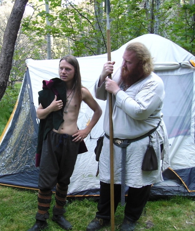 Fred and Bear of the Ballarat Asatru Garth, who ran the ritual in 2008.