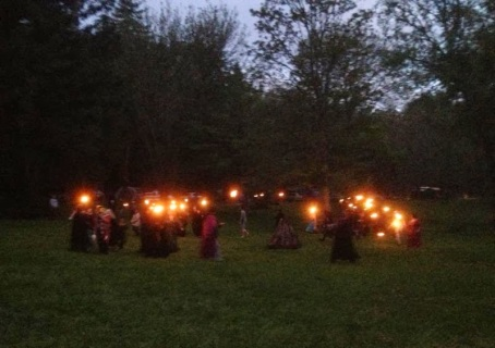 The 2013 Fire procession, courtesy of K McCredie.