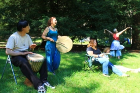 More drumming at the 2014 Gathering. Photo courtesy of Kylie Moroney.