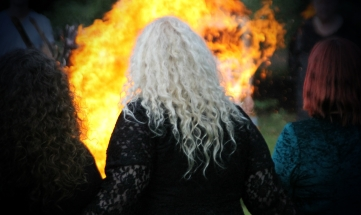 Beltane fire, 2014. Photo courtesy of Kylie Moroney.