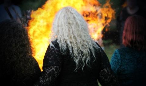 Beltane fire, 2014. Photo courtesy of Kylie Moroney.