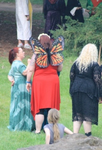A Beltane butterfly! 2014. Photo courtesy of Kylie Moroney.