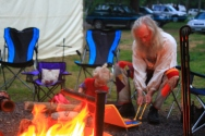 Glockenspiel music by the fire, 2014. Photo courtesy of Kylie Moroney.