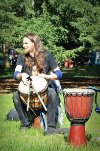 Beltane beats with Danny, 2014. Photo courtesy of Kylie Moroney.