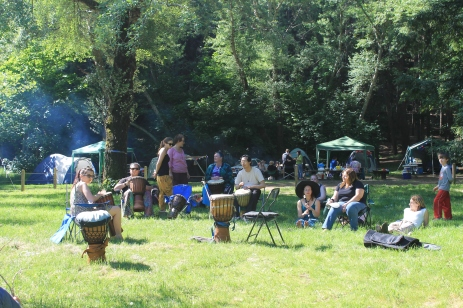 Drummers at the 2014 Gathering. Photo courtesy of Kylie Moroney.