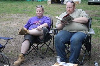 The Marks relaxing at the 2014 Gathering. Photo courtesy of Kylie Moroney.