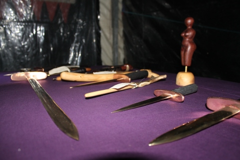 Beautiful pieces on display at the 2014 midnight swap and barter. Photo courtesy of Kylie Moroney.