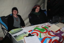 Ryan and Josie at the Pagan Collective of Victoria's stall at the 2014 midnight swap and barter. Photo courtesy of Kylie Moroney.