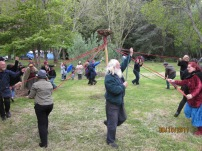 Dancing the Maypole, 2011. Photo courtesy of Mel.