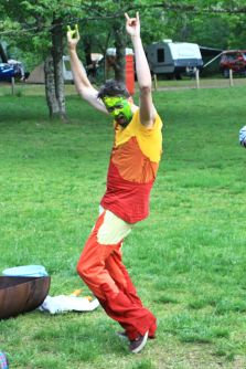 The mummers' play at the 2015 Gathering. Photo courtesy of Kylie Moroney.