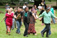 The Spiral Dance workshop at the 2015 Gathering. Photo courtesy of Kylie Moroney.