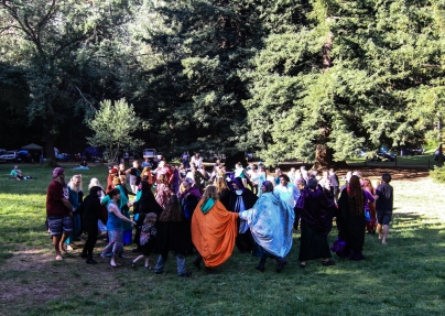 The Spiral Dance at the 2015 Gathering. Photo courtesy of Kylie Moroney.