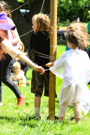 The children's maypole at the 2015 Gathering. Photo courtesy of Kylie Moroney.