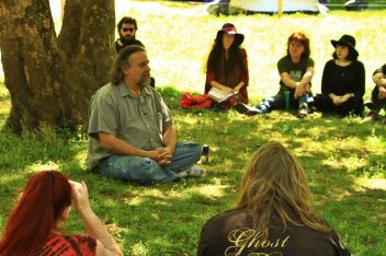 Drum's workshop at the 2015 Gathering. Photo courtesy of Kylie Moroney.