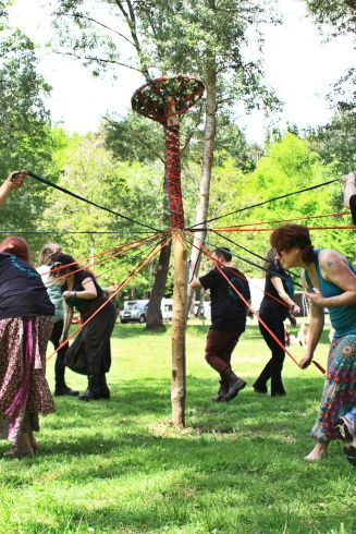 The Maypole at the 2015 Gathering. Photo courtesy of Kylie Moroney.