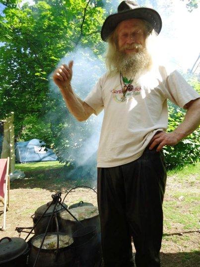 Michel cooks up a storm, 2011.