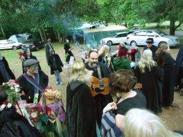 Ritualists gather before the 2011 ritual.