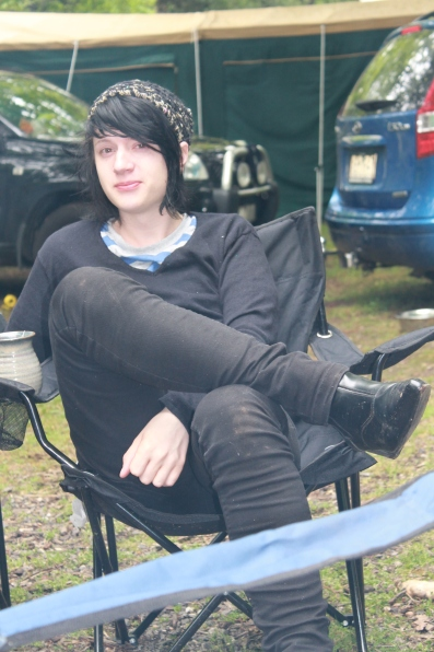 Ryan M relaxes before the ritual, 2011. Photo courtesy of Kylie M.