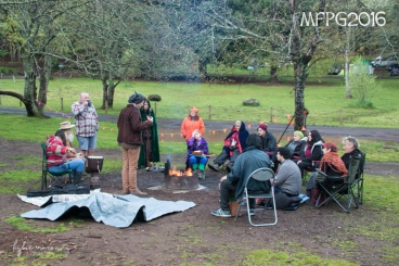 The Organisers' camp at the 2016 Gathering. Photo by Kylie Moroney.