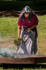 Smoking ceremony and welcome to country conducted by Marilyne Nicholls of the Dja Dja Wurrung people at the 2017 Gathering. Photo by Kylie Moroney Photography.