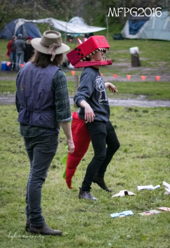 The Mummer's play at the 2016 Gathering. Photo by Kylie Moroney.