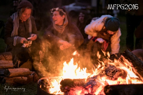 Fireside fellowship at the 2016 Gathering. Photo by Kylie Moroney.