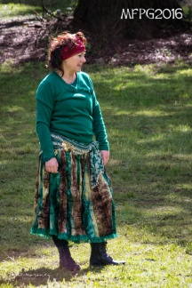 Anne ran a wonderful bellydancing workshop at the 2016 Gathering. Photo by Kylie Moroney.