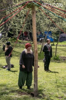 Getting ready to dance the maypole at the 2016 Gathering. Photo by Kylie Moroney.