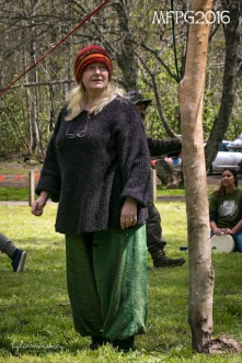 Linda overseeing the maypole dance at the 2016 Gathering. Photo by Kylie Moroney.